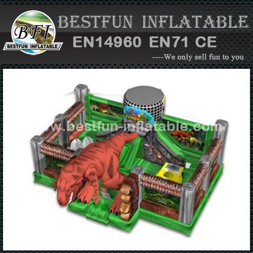 Inflatable jurassic fun park