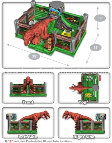 Jurassic Zoo inflatable bouncer combo