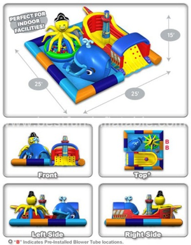 Sea world inflatable bouncer combo