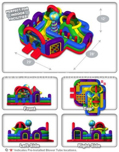 Wacky World Inflatable Style Hopscotch and Twister