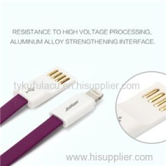 High Quality Flat TPE Usb Charger Cable For Iphone
