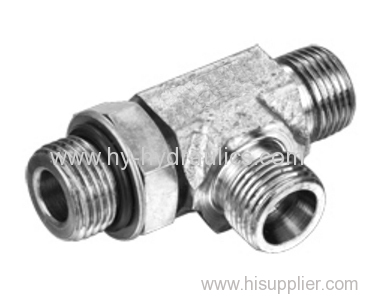 Barrel Tee UN UNF Thread Adujustable Stud ends with O- Ring sealing ACCO-OG ADDO-OG ACCO-OG/RN ADDO-OG/RN