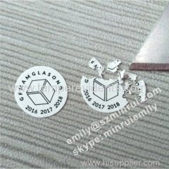 Round Breakable Destructible Eggshell Warranty Stickers with Logo Printed