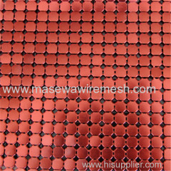 flexible 4mm red matal cloth curtain