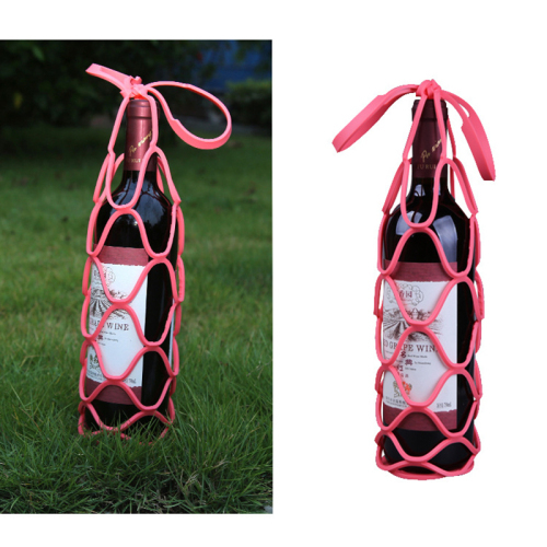 Silicon foldable stretchable wine bottle carrier