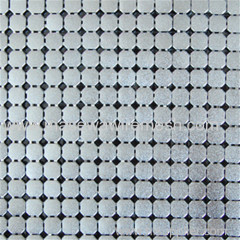 6mm silver square metallic cloth