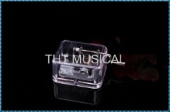 CHEAP HAND CRANK ACRYLIC MUSIC BOX