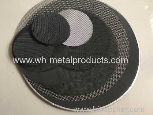 filters discs of black wire cloth