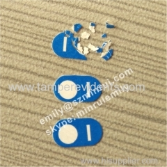 Custom Special Logo Shape Destructible Label Do Not Remove Fragile Paper Sticker