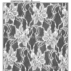 150CM Floral Design Lace Fabric (R570)