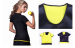 Spontaneous heat short sle eve Aerobics jacket for body sculpting