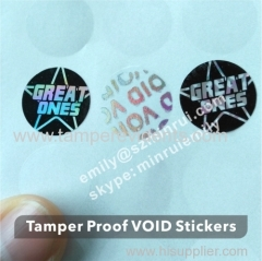 Custom Paper Packaging Box Security Seal Stickers Security Seals Tamper Evident Hologram Warranty Void Labels