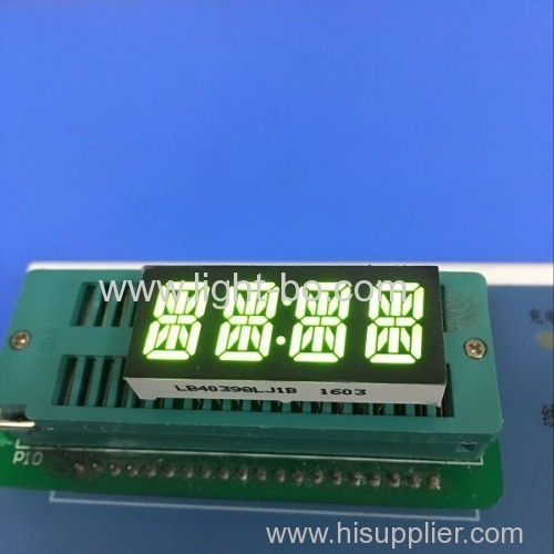 Super green 4 digit 14 segmenet led display common cathode 0.4  for digtial Mini clock indicator