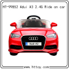 2.4G 12V rc audi A3 ride on car for kids