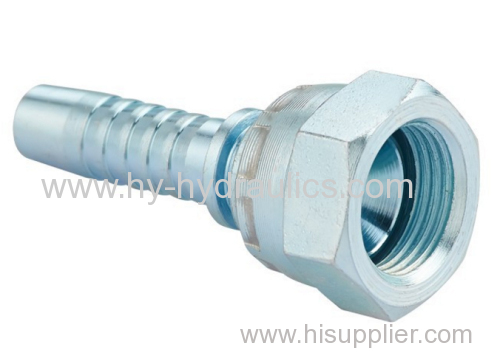 Metric female 74 cone seal hydraulic hose fitting female thread pipe fitting 20711