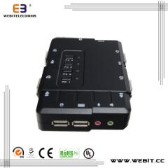plastic 4 ports KVM console