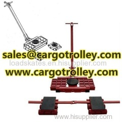 Steerable machinery moving skates pictures with details