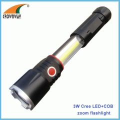 5W Cree LED 4AAA magnet work light 280Lumen super bright COB work light repairing lantern