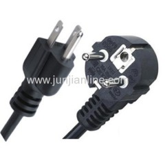 VDE/UL power cord extension cable