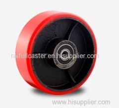 PU caster iron wheel