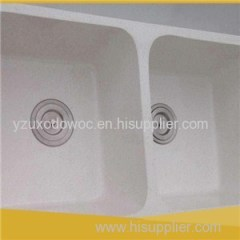 White Quartz Kitchen Stone Sinks