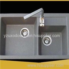 Grey Quartz Stone Kitchen Wash Lavabo