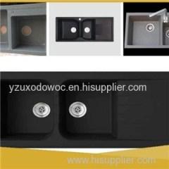 Black Quartz Composite Stone Kitchen Sinks