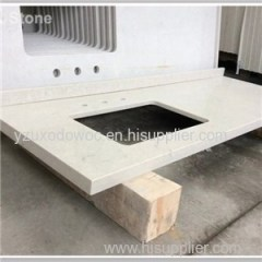 Synthetic Stone White Quartz Vanity Top
