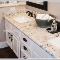 Prefab Double Sink Quartz Bathroom Vanity Top