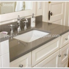 Brown Quartz Stone Vanity Top