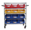Wire Shelving Trolley For Plastic Bin