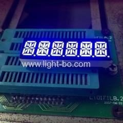Ultra azul 6 dígitos 10 milímetros 14 segmento display LED ânodo comum para multimédia