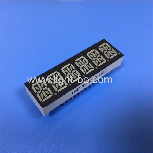 Ultra blue 6 digit 10mm 14 segment led display common anode for multimedia