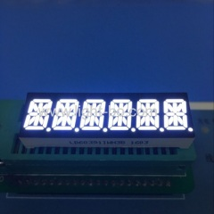 six digit blue 14 segment ; 6 digit 14 segment blue led display