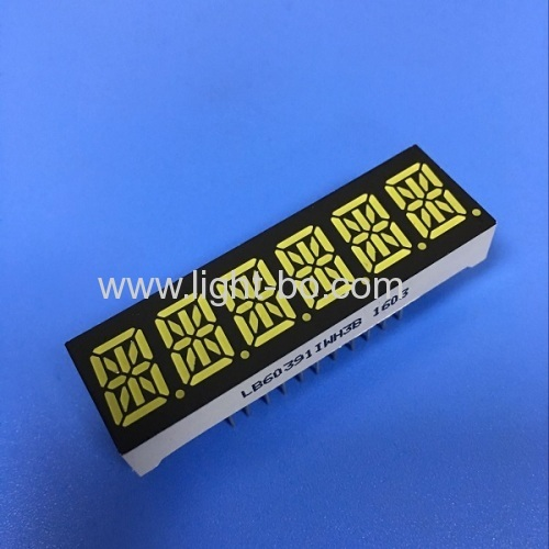 OEM 10mm Six digit 14 segment led display common anode for Instrument panel
