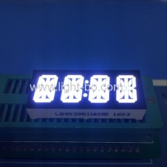 Custom ultra white four digit 10mm 14 segment led display common anode for home appliances