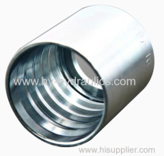 Swaged hose fitting ferrule for two-wire hose ferrule