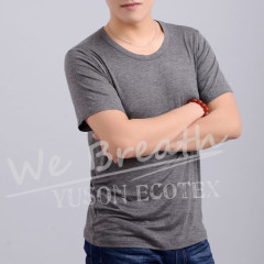 Apparel & Fashion T-shirts Men Bamboo Fiber SummerRound Neck Basic Breathable T-shirt