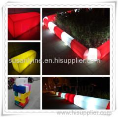 roadside petrol garage parking stone color plastic solar led brick light waterproof