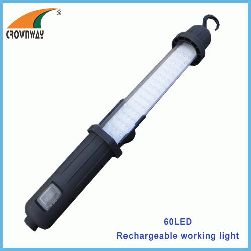 60LED working light magnet and hook repairing lamp 3.6V Ni-Mh 1000mAh high capacity rechargeable car repairing lamp
