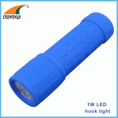 9LED flashlights 15 000MCD high power mini pocket light lamp camping lantern ABS durable body 3*AAA batteries