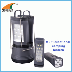 Plastic SMD high power potable lantern camping lantern 2pcs individual torches multifunctional camping hook lantern