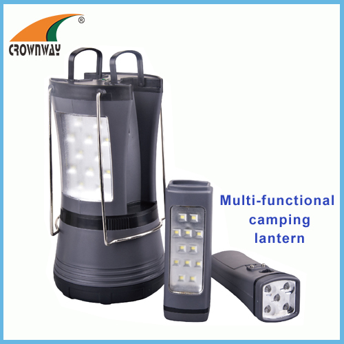 Plastic SMD high power potable lantern camping lantern 2pcs individual torches multifunctional camping hook lantern