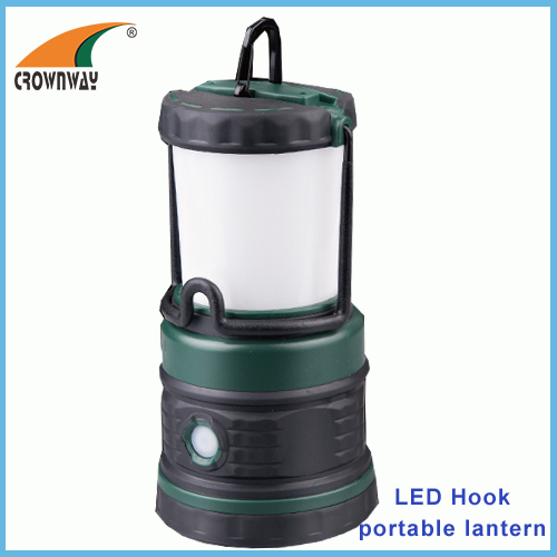 SMD 200Lumen working light hook portable lamp outdoor camping lantern 3*D battery red flashing LED warning light