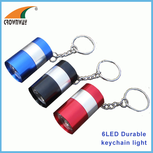6LED super bright white keychain light mini pocket lamp 2*CR2032 cell button batteries hand lamp CE RoHS approval