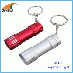 LED keychain light 15 000MCD super bright 3*LR44 mini pocket lamp key holder light promotional gift CE RoHS approval