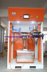 powder feed center for fast change color