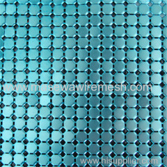 blue light square metal curtain mesh