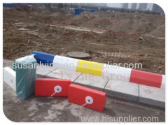 inflatable concrete pathway block night colorful light LED lighting kerbstone for parking