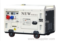198F engine 7KW super silent diesel generator with wheels